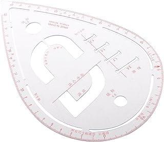 Perfk 服装ルーラーツール 曲線作成 スリーブカーブ プラスチック 設計用ルーラー 家庭/学校用 創作用