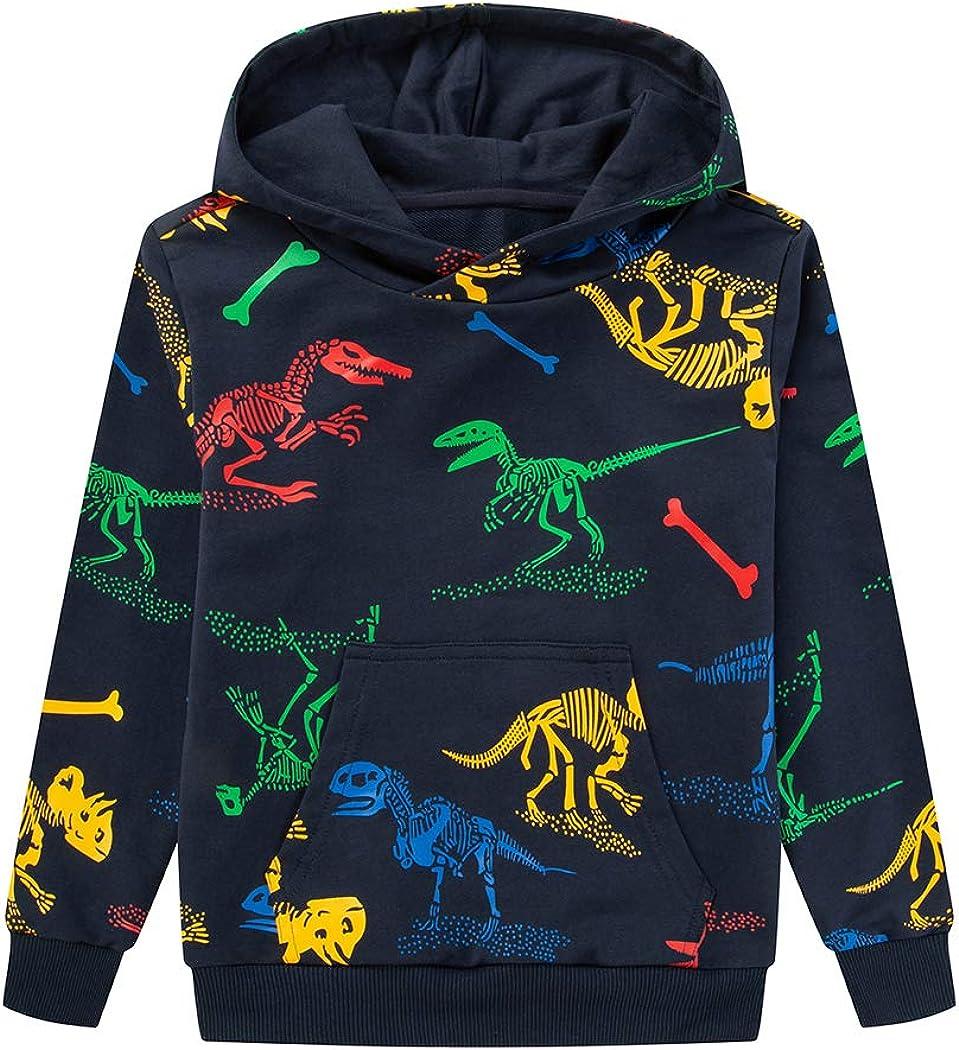 TLAENSON Kids Dinosaur Hoodies for Recommendation Elegant Hooded To Boys Pullover Girls