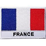 Französische Flagge, bestickt, zum Aufnähen oder Aufbügeln, für T-Shirts, Taschen, Hüte