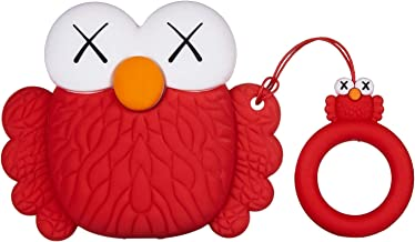 Mulafnxal Compatible with Airpods 1&2 Case,Cute 3D Cartoon Character Silicone Airpod Funny Cover,Kawaii Fun Cool Keychain Design Skin,Fashion Cases for Girls Kids Teens Boys Air pods(Red Sesame)
