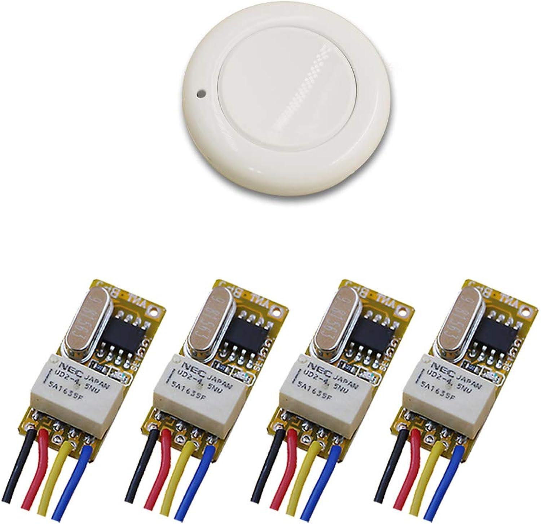 White color DC3.5V 3.7V 4.5V 5V 6V 7.4V 8.4V 9V 12V Micro Remote Control Switch Mini Relay Receiver Transmitter 315Mhz 433Mhz