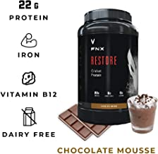 FNX Restore Cricket Protein Powder Blend with Vitamin B12, Omega 3s, and Iron, Lactose, Dairy, Soy, and Gluten Free, 15 Servings, Chocolate Mousse Flavored