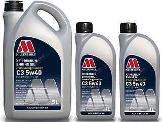 Millers Oils XF Premium 5w40 C3 SN Dexos 2 volledig synthetische motorolie, 7 liter
