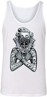 2 Gun Tattooed Marilyn Monroe Bandana Men's Tank Top Blonde Bombshell