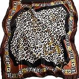 YUNLILI Fashionable Square Ladies Bufanda, Cinturón, Corbata, pañuelo en la cabeza, Adecuado para todas las estaciones, Unisex (Leopard Print) 90x90cm