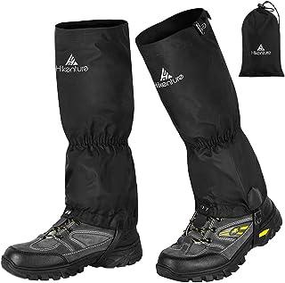 گترهای پیاده روی HIKENTURE با زیپ - گتر مچ پا ضد آب برای مردان و زنان - گترهای ضد پارگی با قلاب بند کفش - گترهای کفش برفی چند منظوره برای کفش برفی ، پیاده روی ، شکار ، دویدن