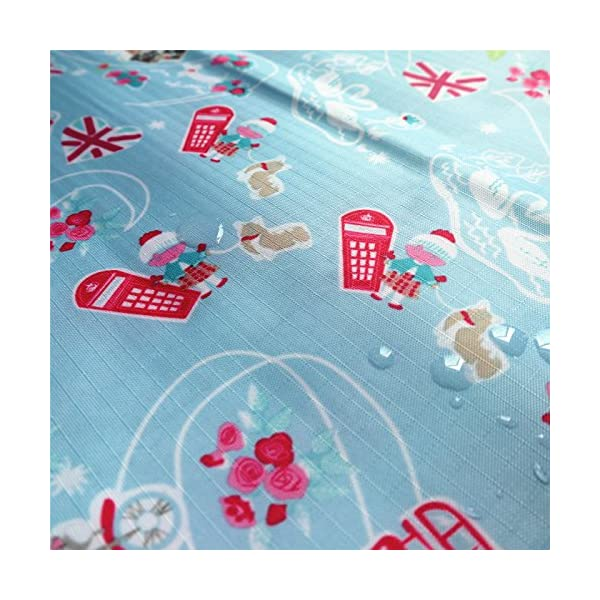 """ZAIONE Width 59"""" Ripstop Fabric Waterproof Outdoor Fabric by The Metre Tear Resistant Cartoon Canvas Fabric for Kites Flag Bag Tablecloth Cover Patchwork DIY Craft Applique (Beige Owl)"""