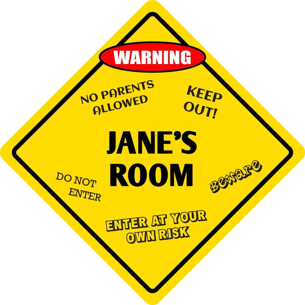 Sign Wall Signboards Poster Decor - Aluminum Import Room Ro Very popular Kids Jane's