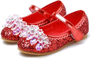 Warming Princess Cosplay Performance Shoes Sequins Dress Shoes Low Heeled