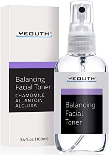 YEOUTH Facial Toner, Hydrating Face Toner - Prep, Tone, Refresh, Skin - Pore Minimizer, Mild Astringent, Face Mist, Perfec...