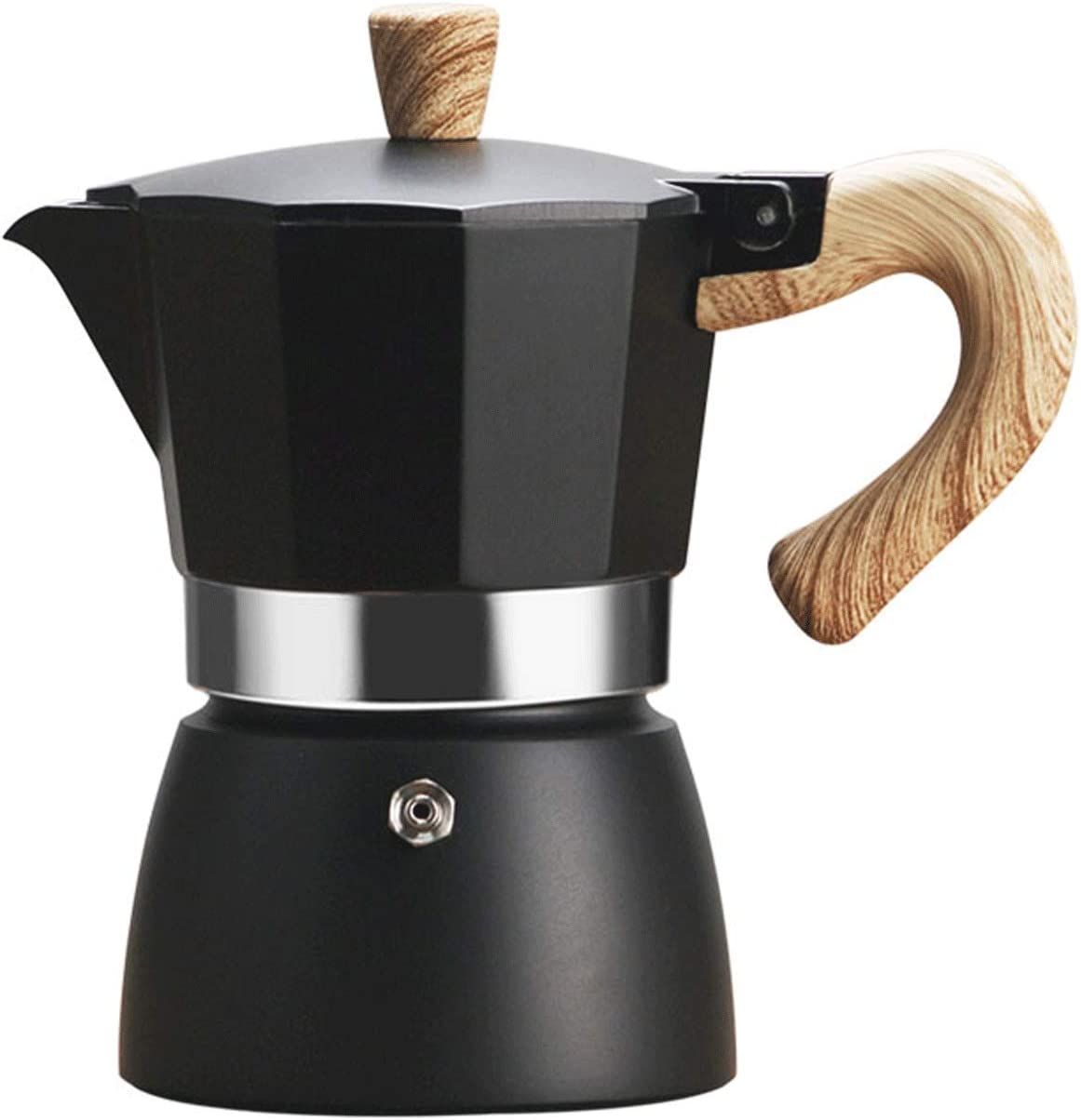 Moka Pot Omaha Mall Octagonal Classic Home NEW before selling Brewing Hand Machine Coffee Ital