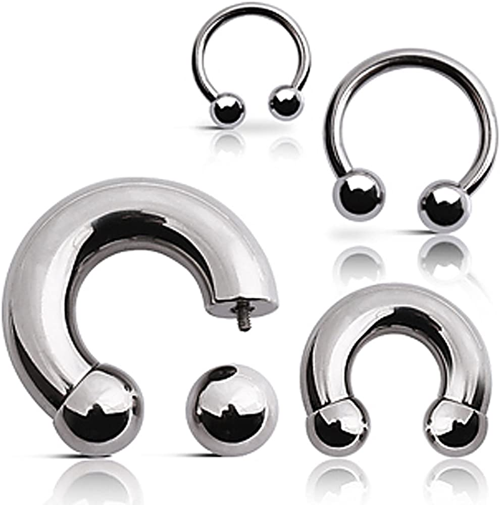 316L Surgical Steel Horse Shoes with a A surprise price is realized Department store 00GA - B:12mm Ball Sold