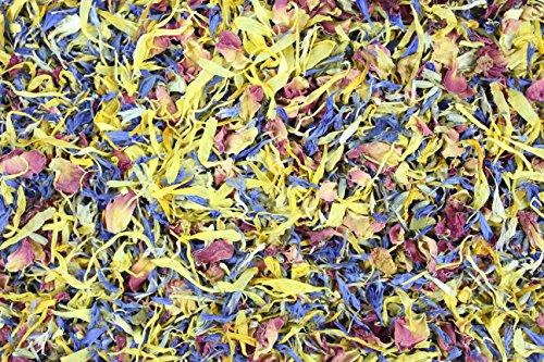 1000Kräuter Blütenmix Blütenmischung Bunt Essblüten (100g)