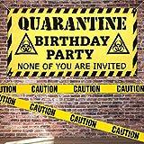 Quarantäne Geburtstag Banner Quarantine Birthday Party