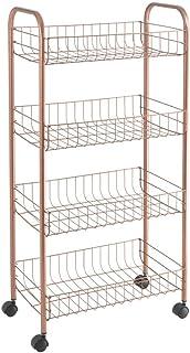 Metaltex 3444040000 Resserre démontable 4 paniers-ASCONA, Métal, cuivré, 41 x 23 x 84 cm