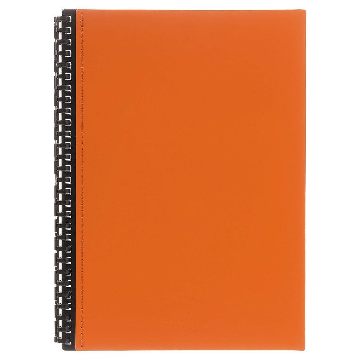 リヒトラブ ツイストリングノート レザーイメージ セミB5 29穴 橙 D1073-4 【まとめ買い3冊セット】