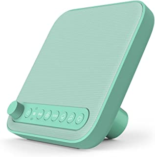 Pure Enrichment Wave Baby Soothing Sound Machine (Mint Green) - All-Natural Sounds Include Lullaby, Heartbeat, White Noise, Fan, Ocean, and Rain - With Auto-Off Timer and USB Charger - Patented Design