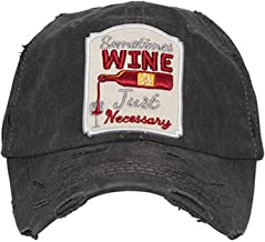 CHL Trading Women's Sometimes Wine is Just Necessary Vintage Baseball Hat Cap