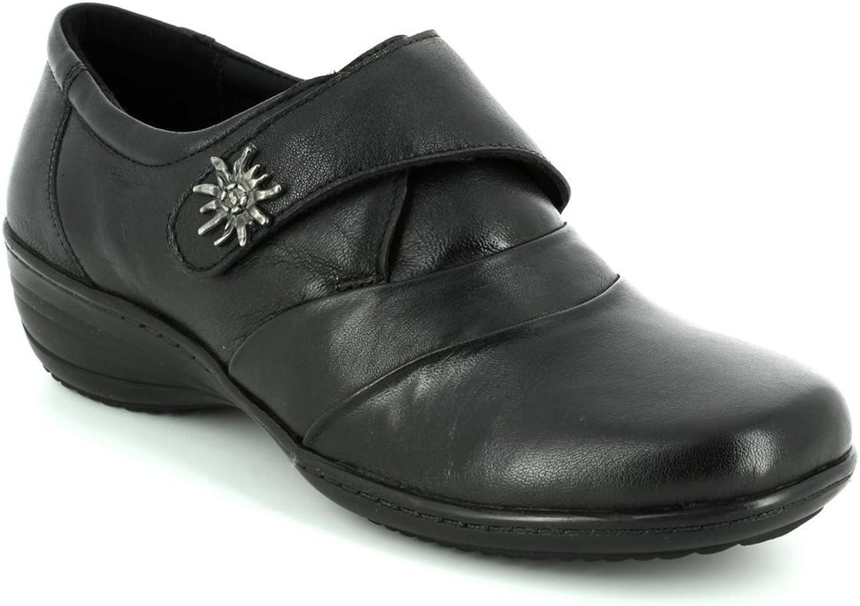 HEAVENLY FEET Kerze Damen Leder Ballerinas Schuhe Schuhe Schuhe Schwarz - Schwarz - UK Größen 3-8  6d4b6a