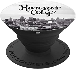 Kansas City Skyline KC Calligraphy Lettering - PopSockets Grip and Stand for Phones and Tablets