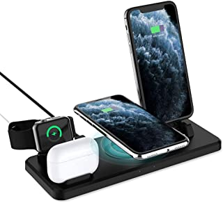 Charger Stand,Charging Station for Apple Watch 6/SE/5/4/3/2 and Airpods, 15W Wireless Charger for iPhone 11 Pro/XR/XS Max/...