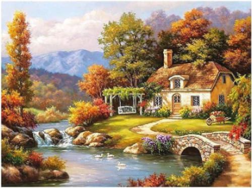 ventas de salida QIAISHI NO Marco Fairyland Landscape DIY Pintura por Números Kits Kits Kits Pintura para Colorar por Números decoración del hogar-100x100 CM  mas barato