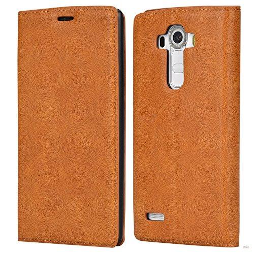 Mulbess Flip Slim Handyhülle für LG G4 Hülle Leder, LG G4 Schutzhülle, LG G4 Klapphülle, Handytasche für LG G4 Tasche, Braun