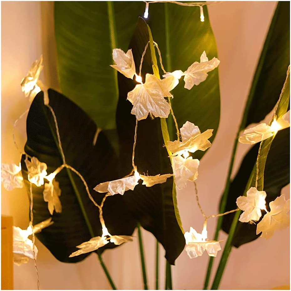 MENGGE Maple Leaf Led Selling and selling String Waterproof Decoratio Lights Autumn Max 62% OFF