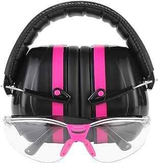 TRADESMART پشمی گوش گوش و پاک کن / عینک ضد تفنگ تمیز - UV400 ضد خراش و ضد خش با کیسه Microfiber | محافظت از گوش تفنگ و محافظت از چشم برای تیراندازی