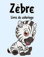 Zebra Livre de Coloriage: Cahier De Coloriage de Zebra, Ce livre de coloriage parfait pour les garçons, les filles et les ...
