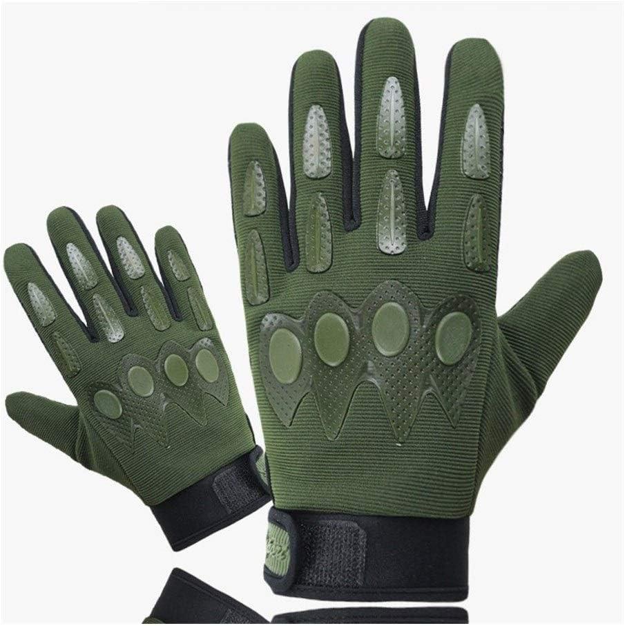 POOMALL Guantes sin dedos Guantes tácticos de Airsoft hombres, guantes militares de senderismo Guantes dedo alpinismo al aire libre completa Guantes de combate táctico Guantes Soft Shell Shell suave d