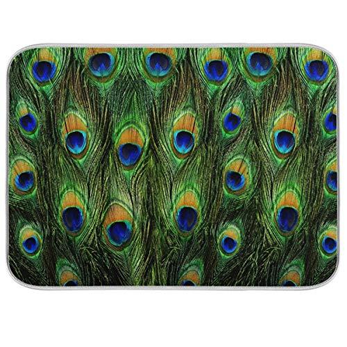 XXNO - Alfombrilla de secado para platos (45,7 x 60,7 cm), diseño de pájaros tropicales