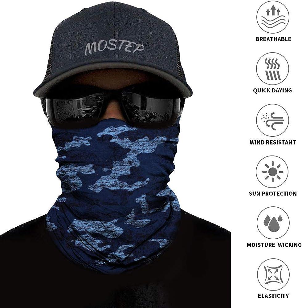 Neck Gaiter, Magic Headband Sport Headwear Elastic Face Mask Bandana Scarf UV Resistence Balaclava, Headwrap Helmet Liner for Men and Women - Cycling, Fishing, Running, Hiking, Camping