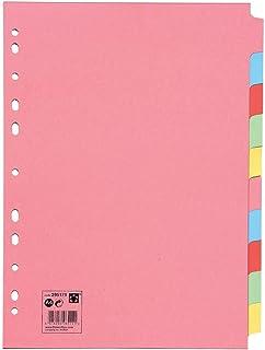 comprar comparacion 5 Star 295179 - Separadores de cartulina 10 posiciones, color pastel