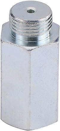 Qiilu Edelstahl Lambda O2 Sauerstoffsensor Extender Spacer für Decat Wasserstoff M18x1.5