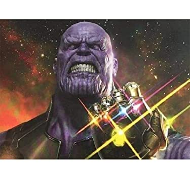 Diamond Painting Kit for Adult 5D DIY Full DrillDiamond Painting Set,Avengers Infinity War Thanos Gauntlet Paint by Numbers for Adults 12x16Inch