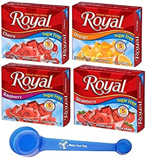 Sponsored Ad - Royal Gelatin Sugar Free Dessert Mix Variety, Cherry, Orange, Raspberry, Strawberry, .32 Ounce Boxes (Pack ...