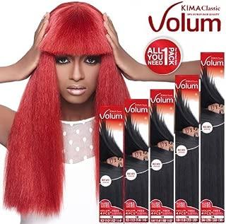 Harlem125 Human Hair Blend Weave KIMA Classic Volum 4Pcs (14, 14, 18, 18, T30) by Harlem 125