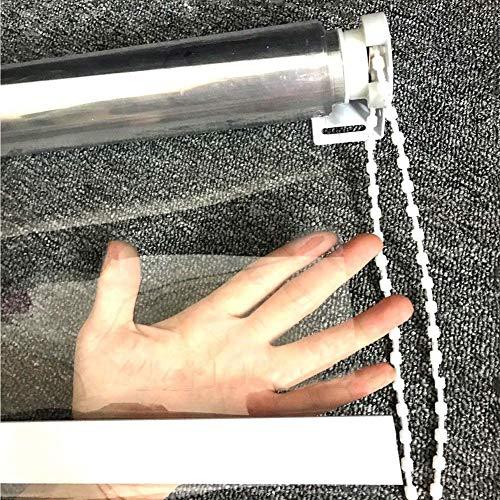 Transparent Roller Shades, Waterproof PVC Supermarkets Blinds, Light Filtering Roller Shade, 70cm/90cm/110cm/130cm Wide (Size : 130x280cm)