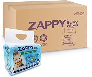 Zappy Baby 30s Wipes Value Pack, 30 ct (Pack of 48)