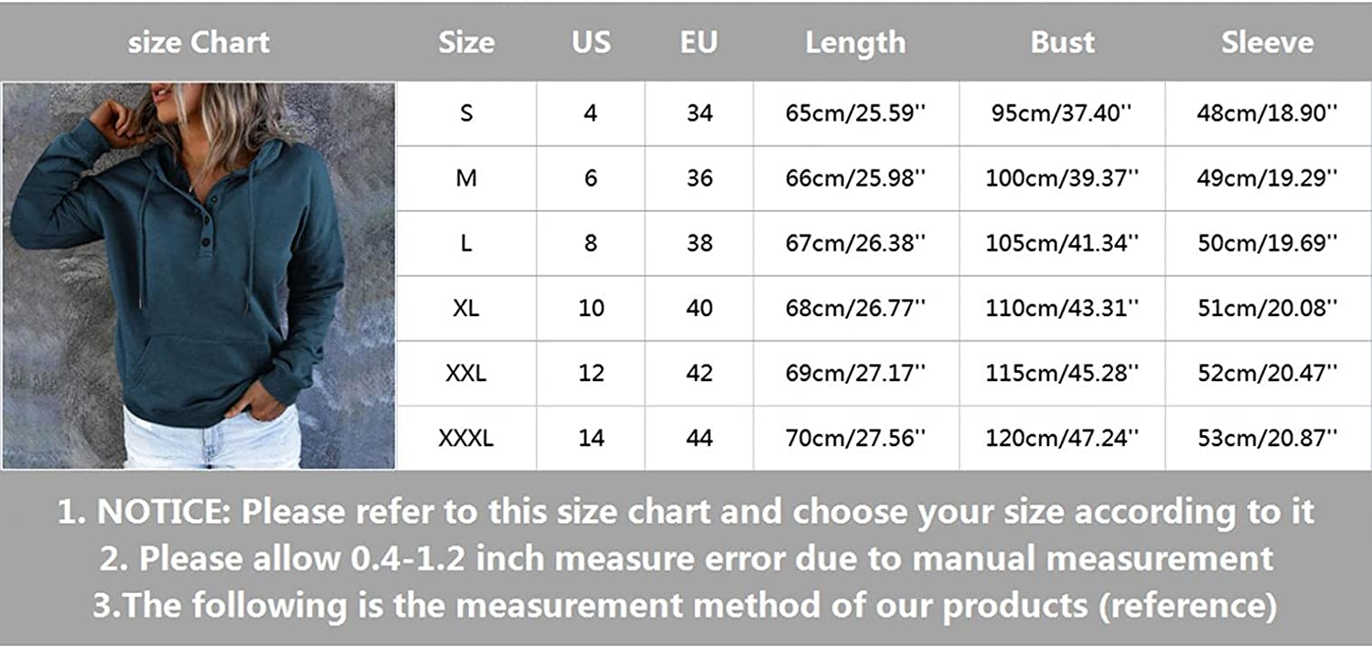 Jaqqra Hoodies for Women Pullover Long Sleeve Solid Button Down Hooded Sweatshirts Teen Girls Loose Pullover Tops Shirts