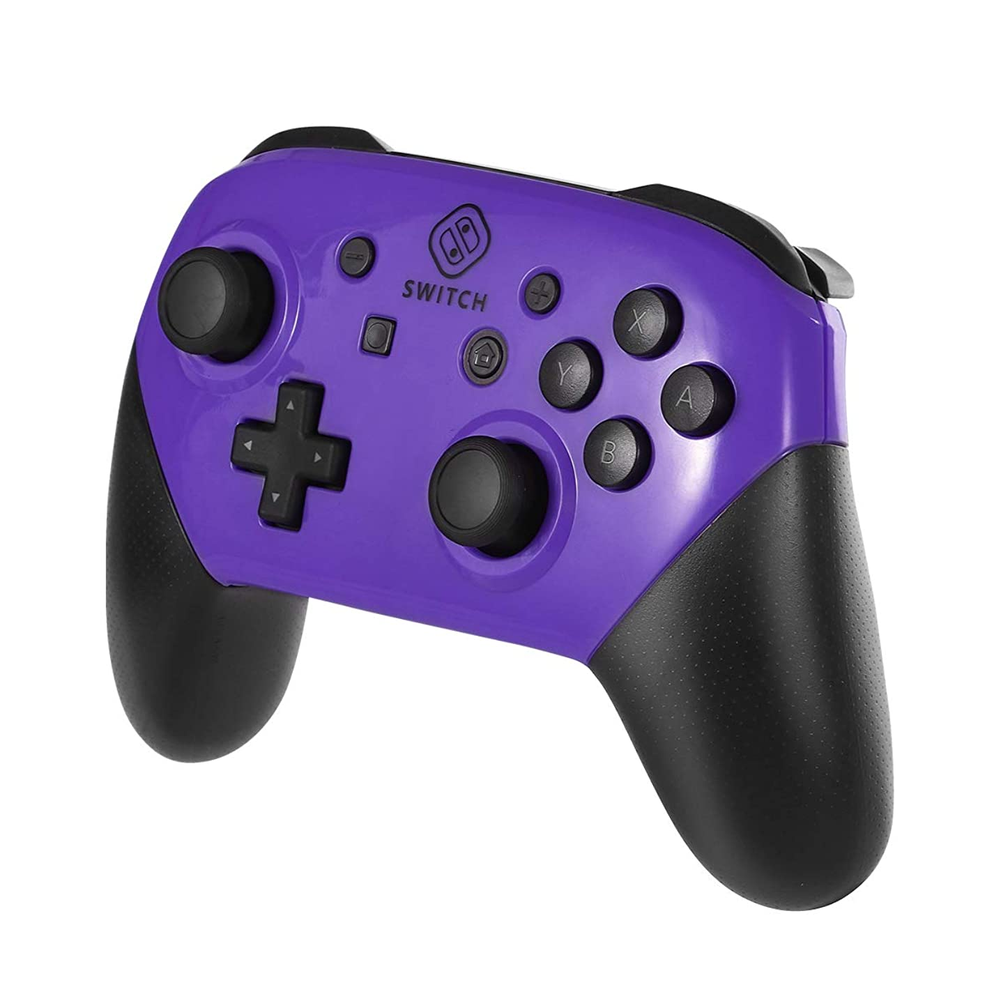 eXtremeBee Replacement Shell Case for Switch Pro Controller, Colorful Anti-Slip Hand Grip Shell Cover Super Switch DIY Faceplate and Backplate Case (Purple)
