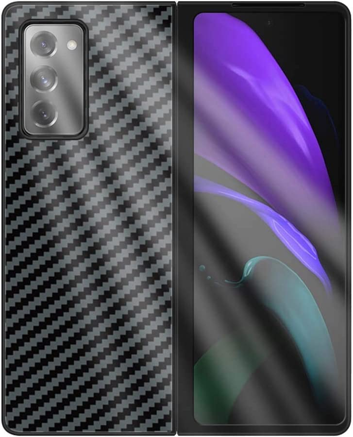 19 INSOLKIDON Compatible with Samsung Galaxy Z Fold 2 Case Painted Glass Mobile Phone Cover For Samsung Galaxy Z Fold2 5G Luxury Plating frame Luxury Case