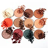 MOLEE 12 Highly Pigmented Single Powder Eye Shadow Pans Refill Eyeshadow Fit Magnetic Makeup Palette Quality Makeup Paraben Gluten Free