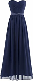 iiniim Women's Pleated High-Waisted Bridesmaid Long Dress