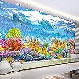 Papel de pared fotográfico personalizado 3D mundo submarino pintura de pared sala de estar habitación de niños dormitorio mural de pared papel tapiz para habitación de niños