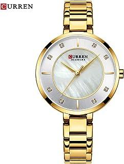 9051 Woman Quartz Watch Chronograph Fashion Casual Stainless Steel Band Female Wristwatch