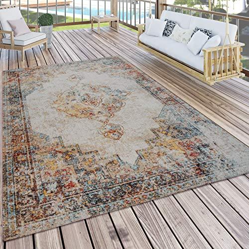 Paco Home In- & Outdoor-Teppich Für Balkon Und Terrasse, Mit Orient-Muster, Bunt, Grösse:160x220 cm
