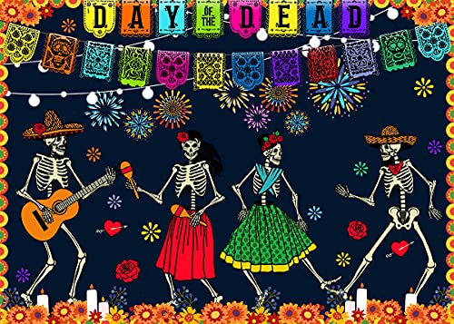 EOBTAIN Sugar Skull Puzzle for Adults 1000 Pieces,Day of The Dead Halloween Spanish Culture Mexican Holiday Funny Family Jigsaw Puzzle,Cool Difficult Puzzles for Adults