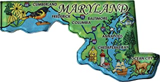 Flagline Maryland - Acrylic State Map Refrigerator Magnet